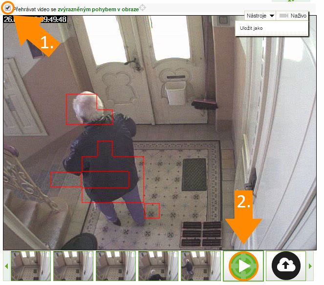 Video with motion detection