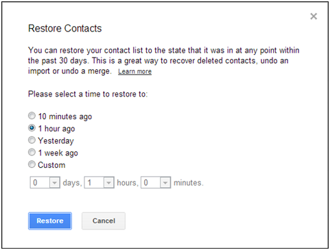 Restoring Contacts On My Google Account Noabe Customer Support Portal