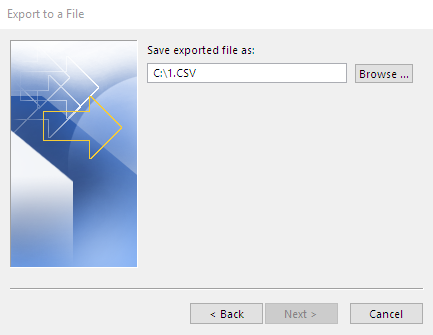 Name your exported file