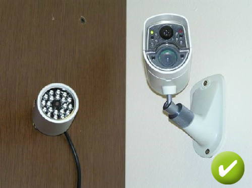 External IR lamp installation